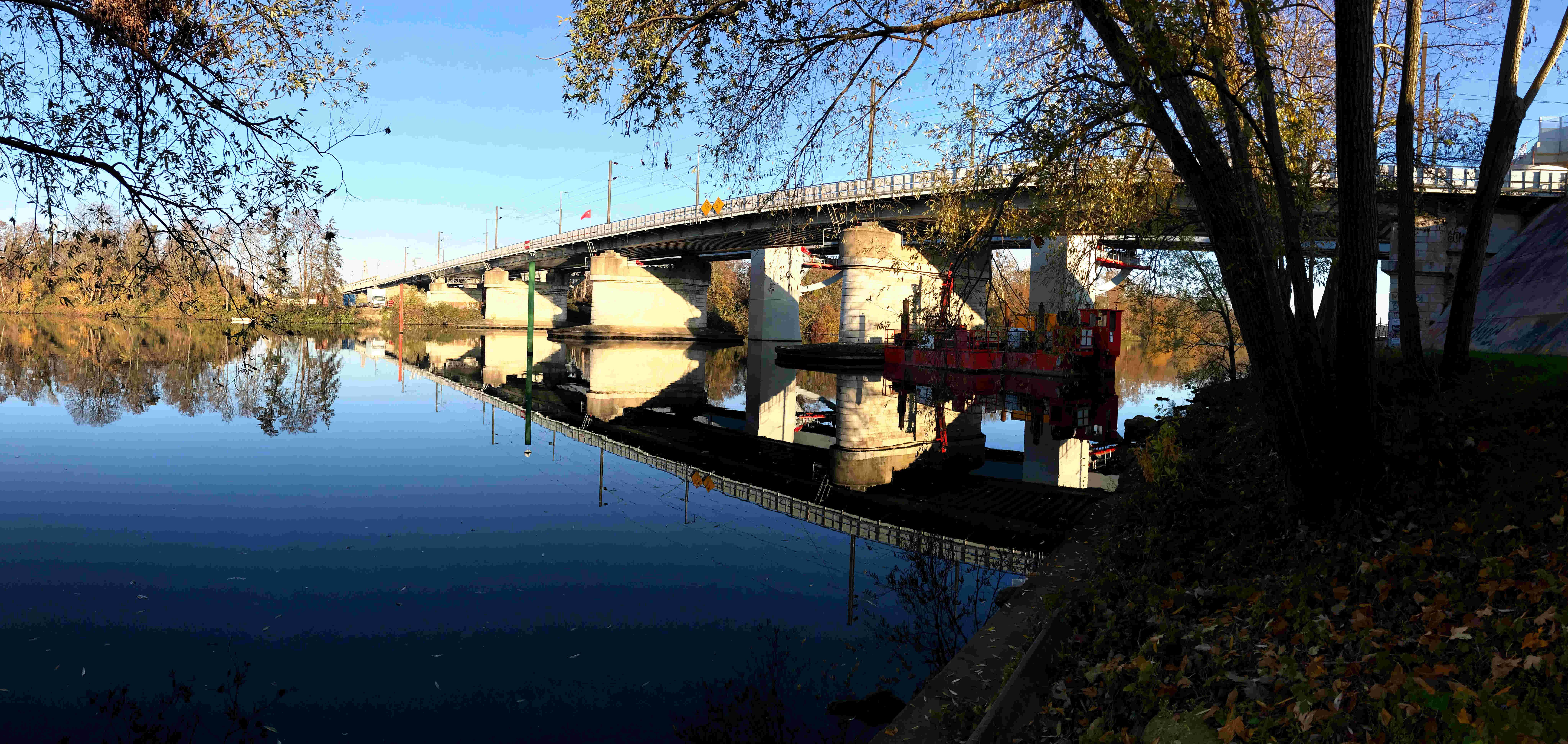 Pont sur la Seine à Nanterre -1