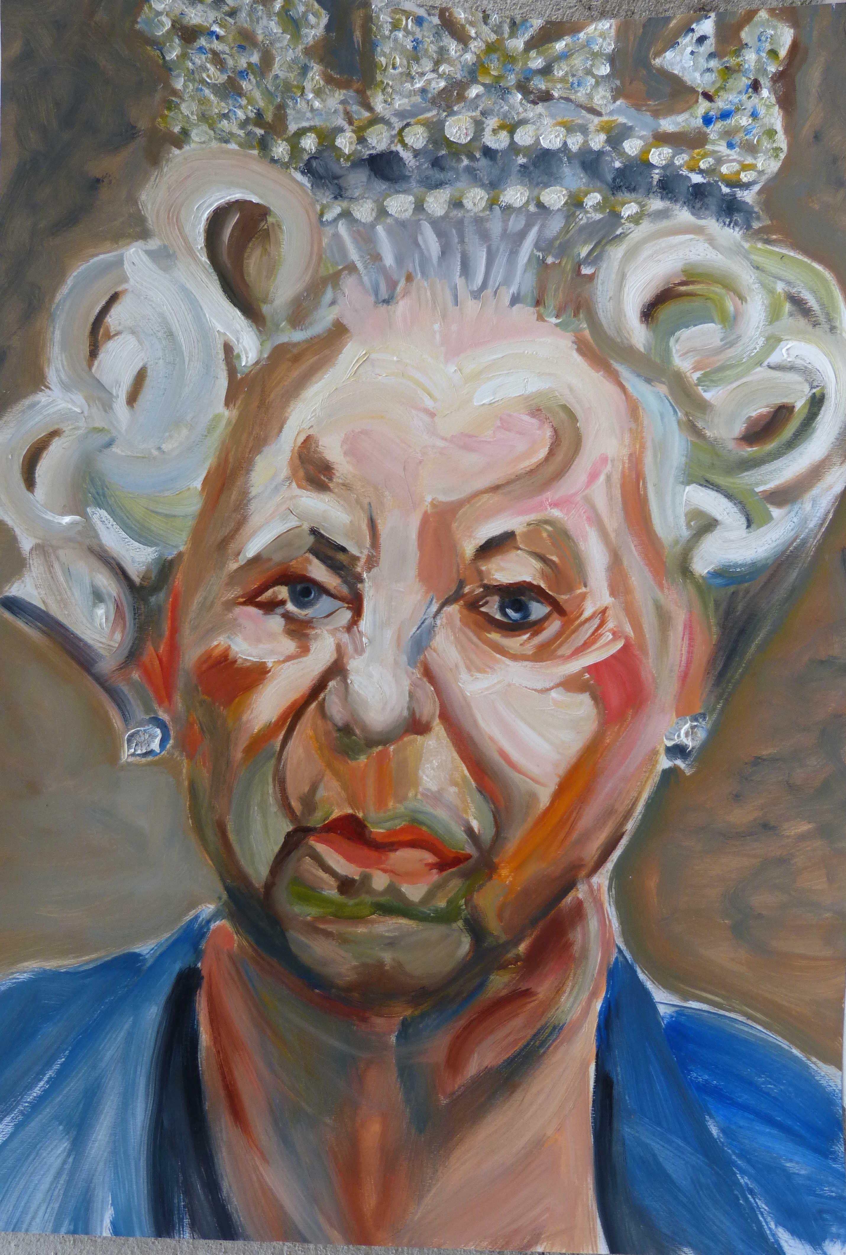 Queen Elizabeth II d'après Lucian Freud