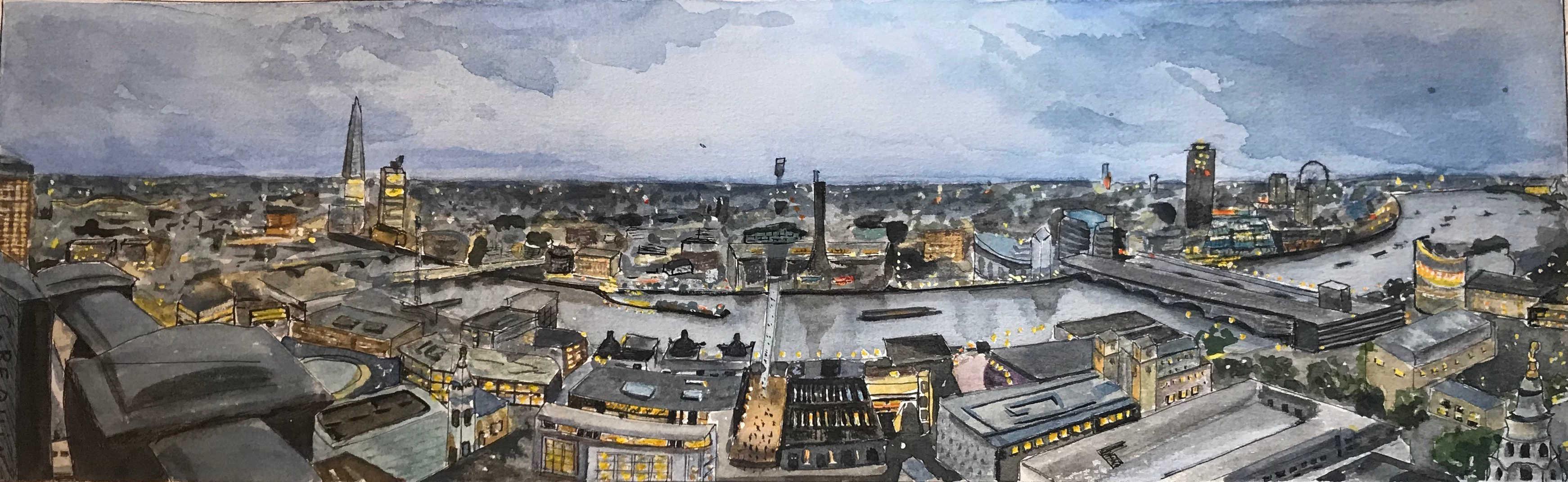 Panoramique - Londres vue de St Paul