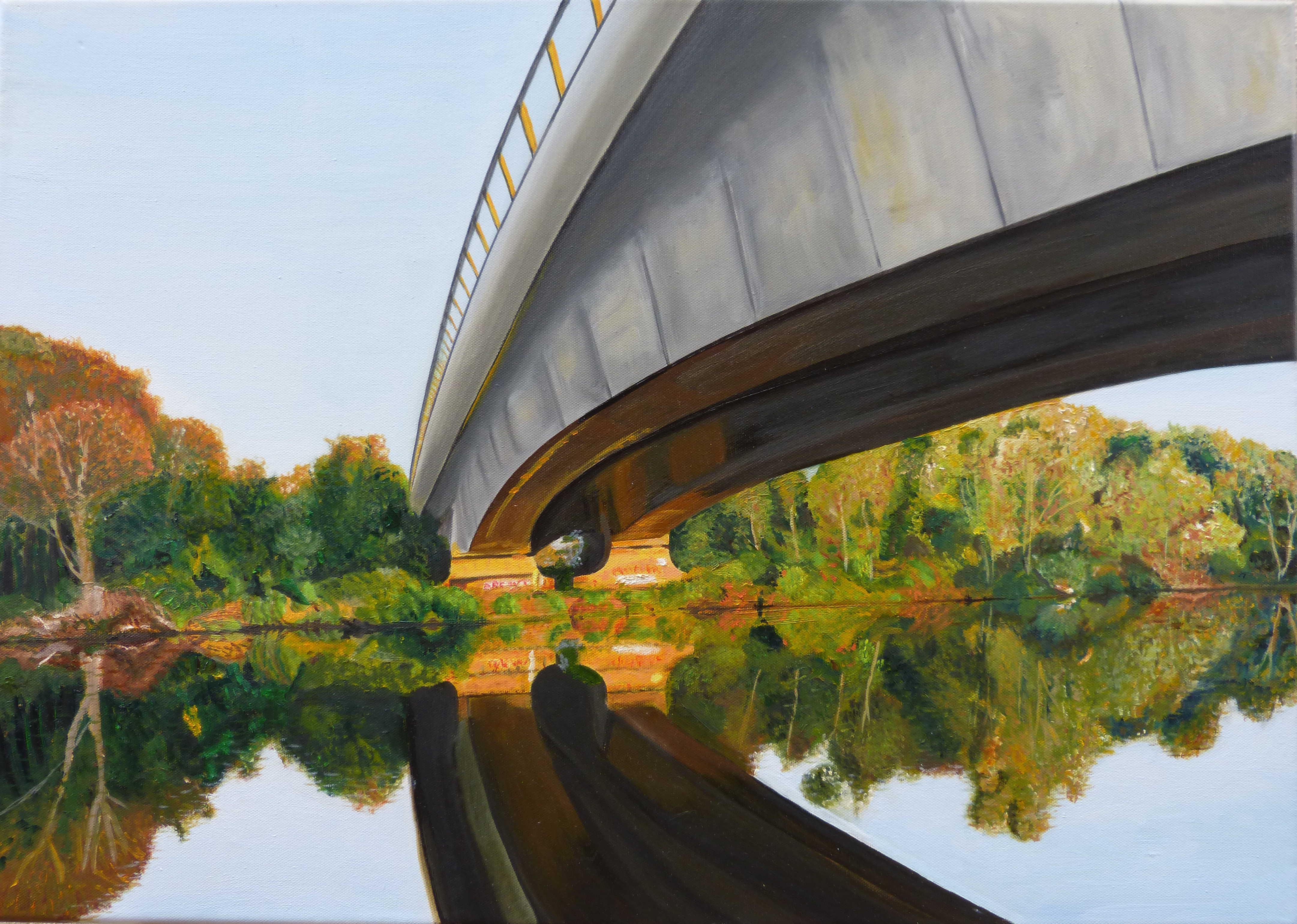 Pont de la A14 sur la Seine à Nanterre
