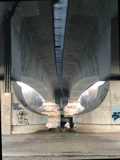 Pont A14 à Nanterre