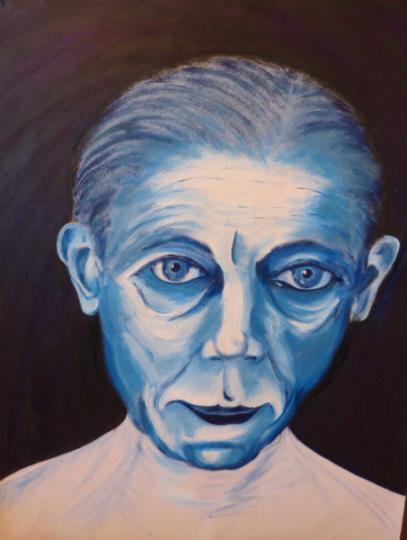 Auto-portrait bleu